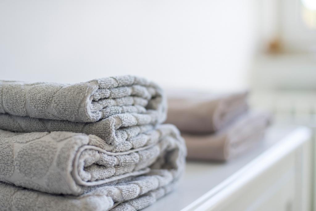 Handtücher für die Gäste liegen bereit