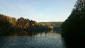 Blick über das Staubecken Heimbach