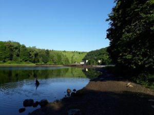 Blick zum Staudamm