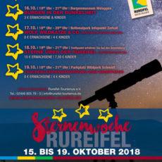 Plakat Sternenwoche Rureifel 2018 mit Terminen