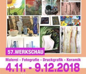 Plakat der 57. Werkschau der Kunstakademie Heimbach